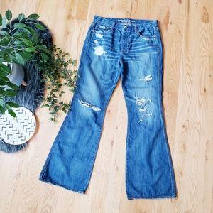 American Eagle Vi tage High Rise Flare Jeans